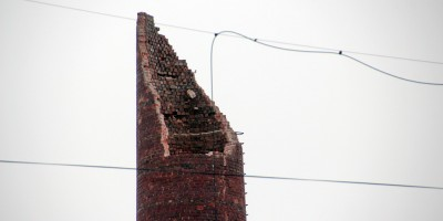 Черниговская улица, снос дымовой трубы