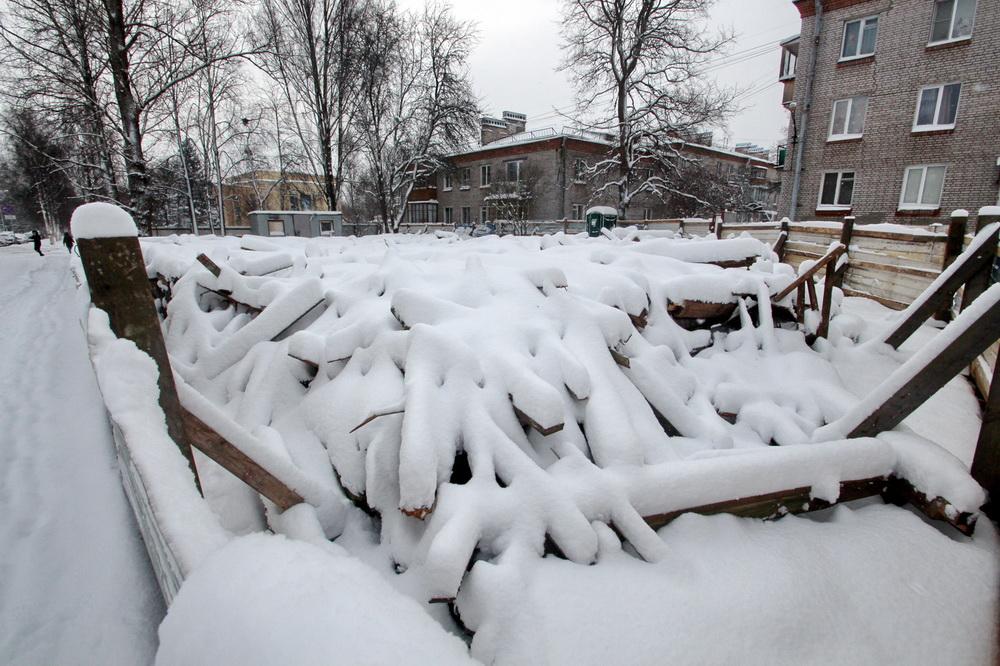 Павловск, Песчаный переулок, 9, после разборки дома