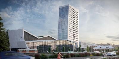 Проспект Ветеранов, проект жилого дома со спортивным комплексом