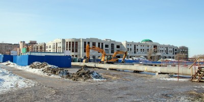 Пушкин, строительство нового корпуса Аграрного университета