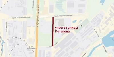 Схема улицы Потапова
