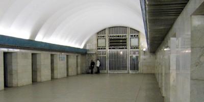 Василеостровская станция метро, подземный зал
