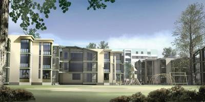Красное Село, улица Первого Мая, 1, жилой комплекс, двор