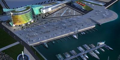 Лахта, яхт-клуб Геркулес, проект, вид сверху