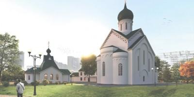 Проект Казанского храма на проспекте Славы