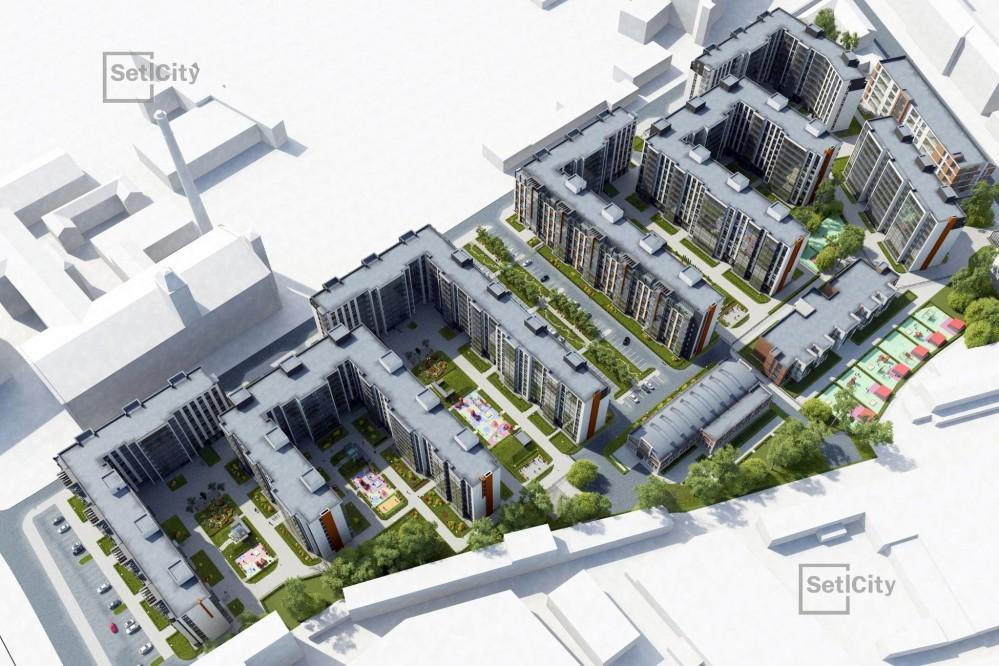 Жилой комплекс на Большом Сампсониевском проспекте, вид сверху