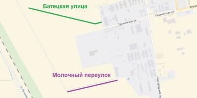 Батецкая улица и Молочный переулок