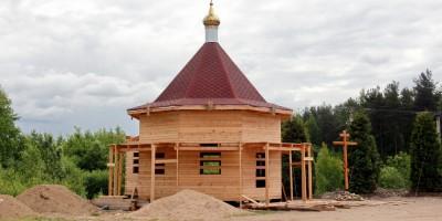 Левашово, Горское шоссе, строительство часовни