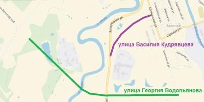 Схема улиц в Колпине