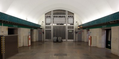 Станция метро Василеостровская, торец