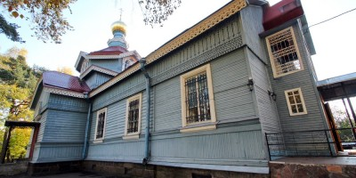 Лахта, Лахтинский проспект, 94, церковь апостола Петра, вход