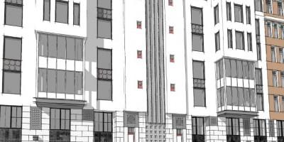 Проспект Бакунина, 31-33, проект левой части