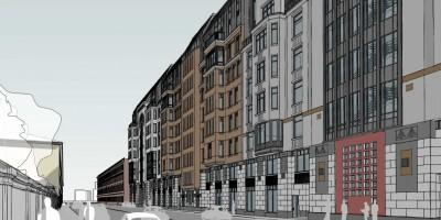 Проспект Бакунина, 31-33, проект жилого дома