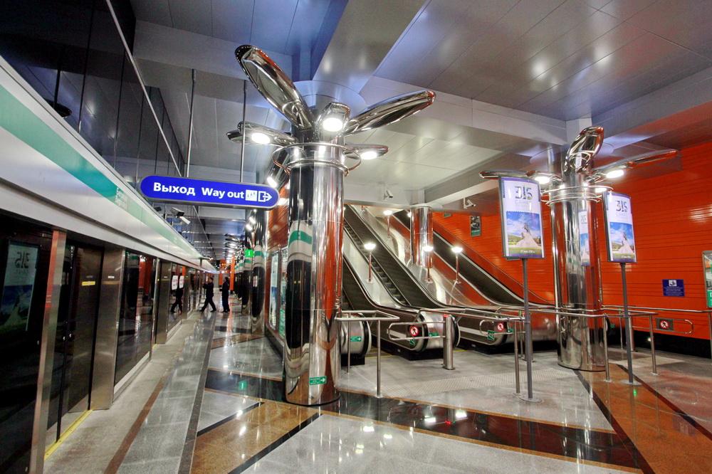 Станция Беговая, перрон