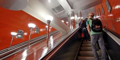 Станция Беговая, эскалатор