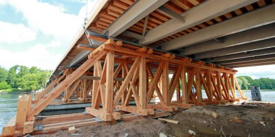 2-й Елагин мост, снизу