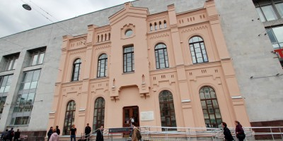 Финляндский вокзал, фрагмент старого фасада