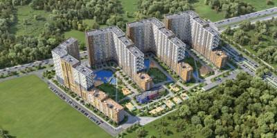 Мурино, проект жилого комплекса сверху