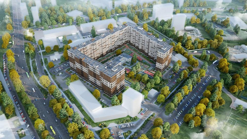Пискаревский проспект, жилой комплекс ЦДС, вид сверху