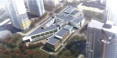 Школа на Южном шоссе, вид сверху