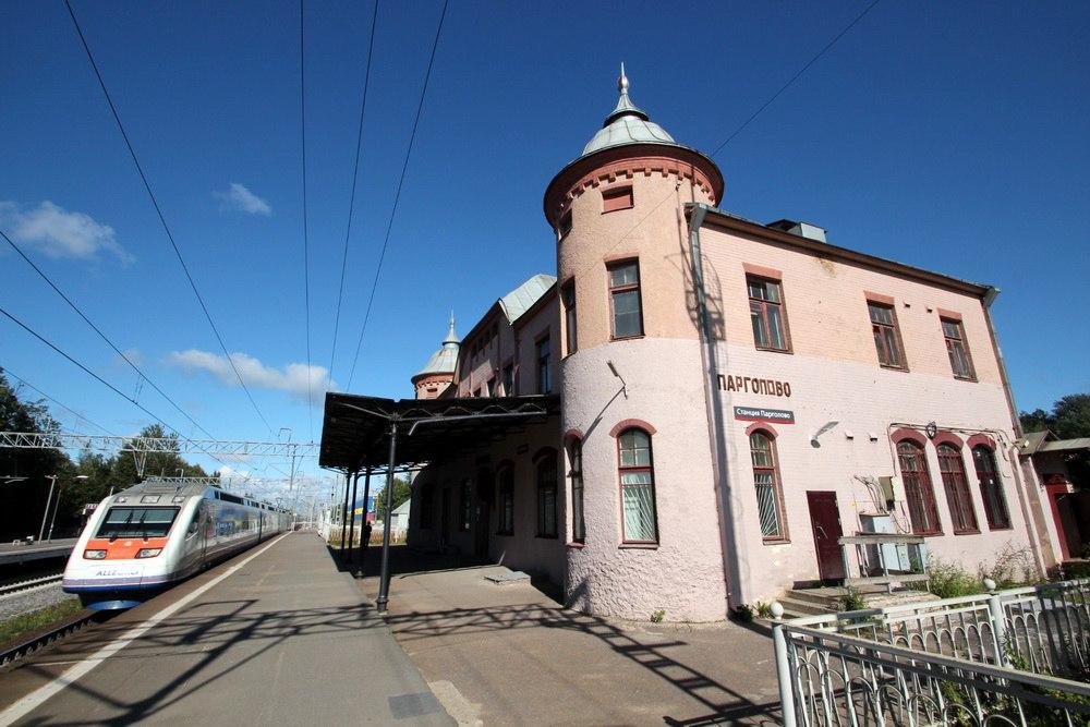 Станция Парголово, вокзал