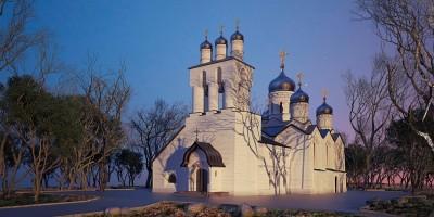 Стрельна, церковь Философа, Бориса и Николая Орнатских