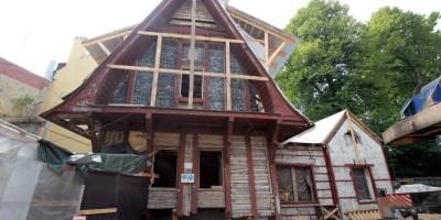 Дача Гаусвальд, капитальный ремонт, служебный корпус