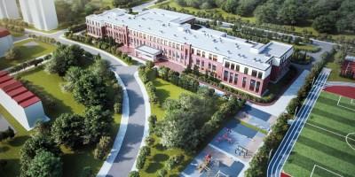 Петергофское шоссе, проект школы, вид сверху