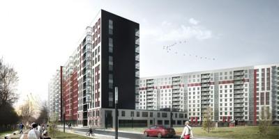 2-й Предпортовый проезд, проект жилого дома, двор