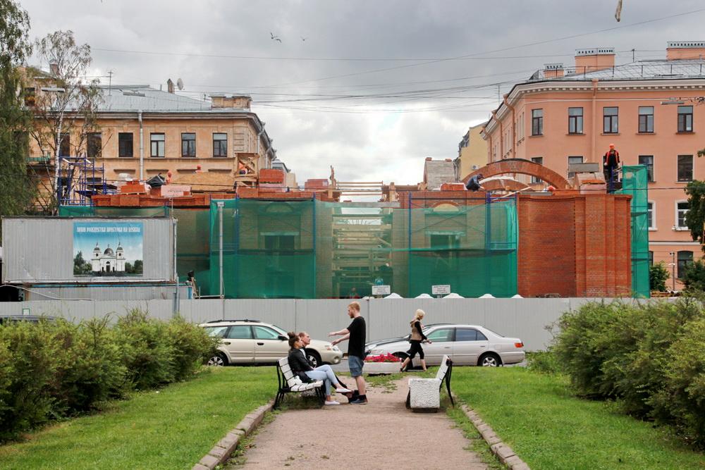 6-я Советская улица, воссоздание Рождественской церкви