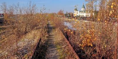Александровская, железнодорожный путь на завод