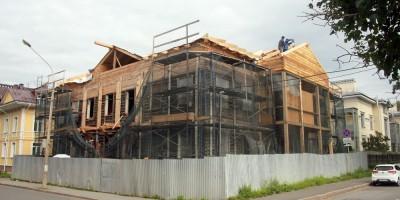 Дом Савинской на Госпитальной улице, 9, в Павловске, реконструкция