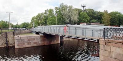 Кронштадт, Доковый мост через Петровский канал