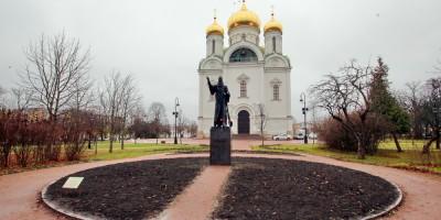Пушкин, памятник 1914 год на Соборной площади
