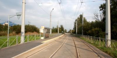 Стрельна, трамвайная линия возле Красносельского шоссе