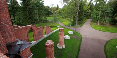 Пушкин, Александровский парк, Шапель, колонны