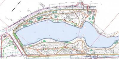 Схема парка усадьбы Орловых-Денисовых