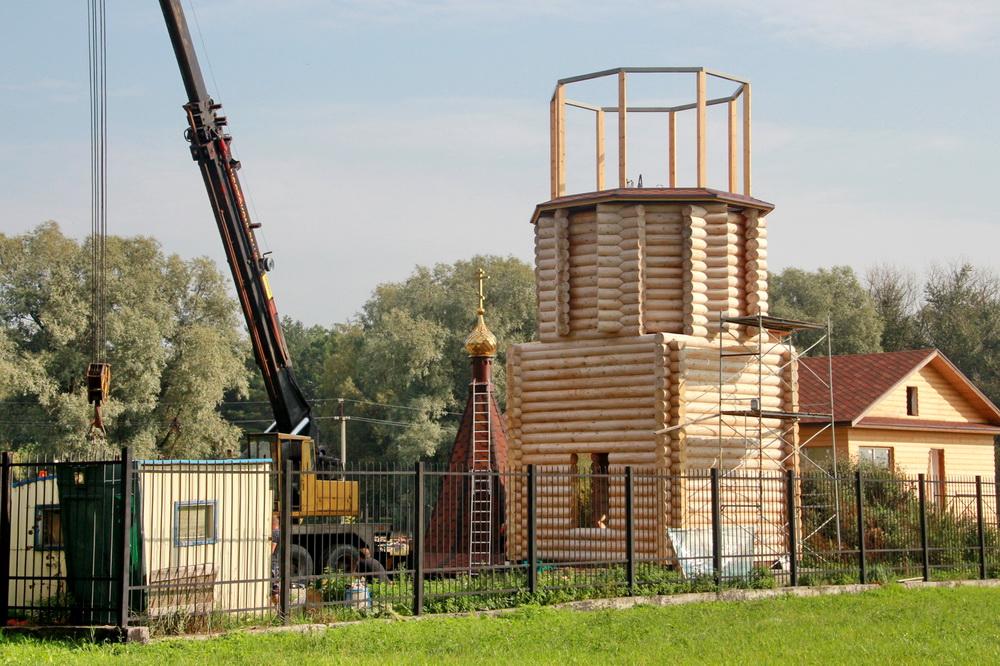 Детскосельский, строительство звонницы, колокольни