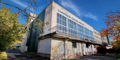 Обуховский спортивный комплекс, проспект Обуховской Обороны, 130, боковой фасад