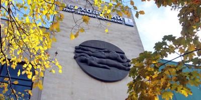 Обуховский спортивный комплекс, проспект Обуховской Обороны, 130, медальон