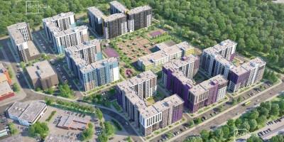 Торфяная дорога, 17, проект жилого комплекса, вид сверху