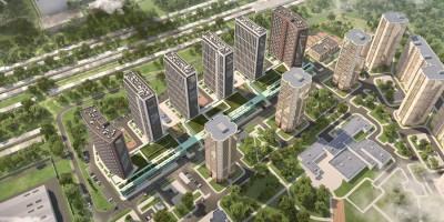 Брюлловская улица, проект жилого комплекса сверху