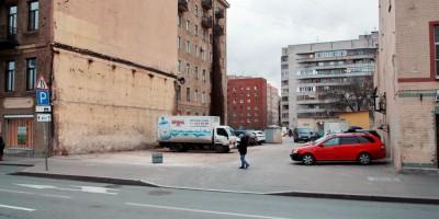 Лиговский проспект после сноса цветочного магазина