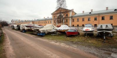 Набережная реки Карповки, водно-моторный клуб Петроградец