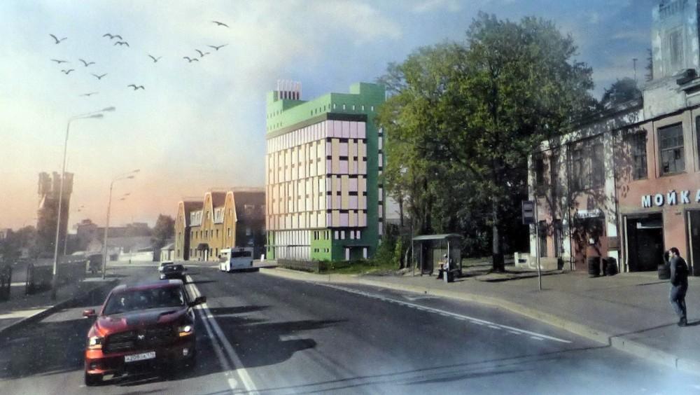 Октябрьская набережная, 104, проект административного здания