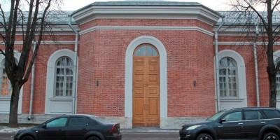 Петергоф, улица Аврова, дом 22, манеж Уланского полка, вход