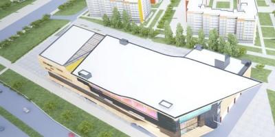 Проспект Ветеранов, проект торгового центра сверху