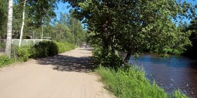 Сестрорецк, грунтовая дорога вдоль Ржавой канавы