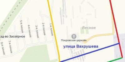 Схема улиц Лесного