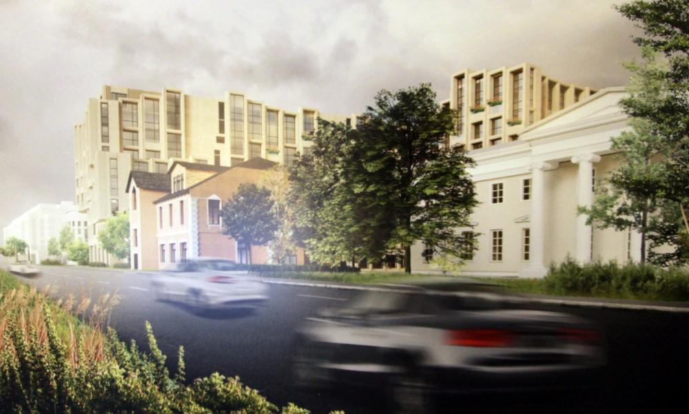 Черная речка, 1, проект жилого дома, вид с Выборгской набережной